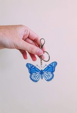 Cardinal Directions CD Butterfly Blues Keychain