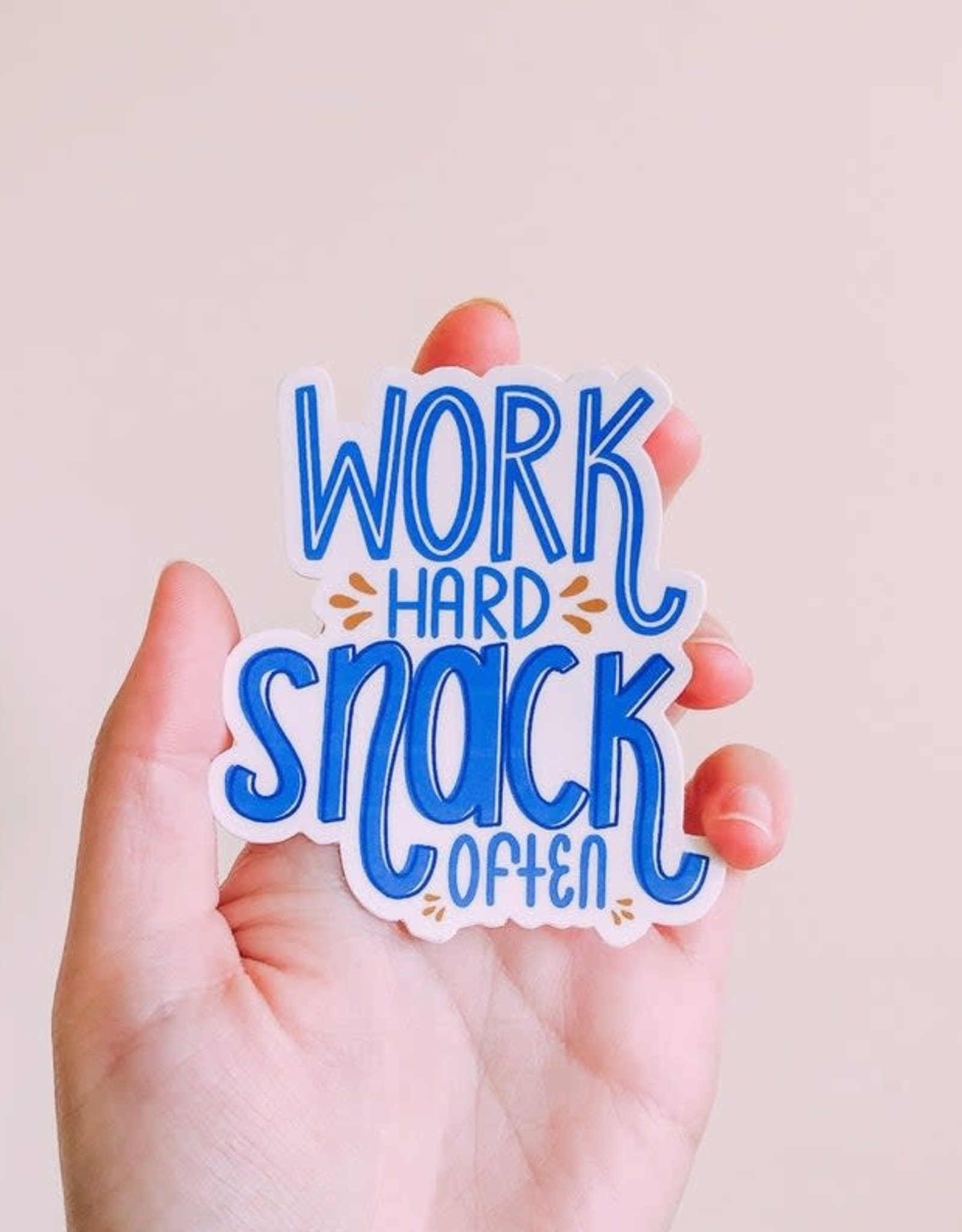 Cardinal Directions CD Stickers- Work Hard Snack Often