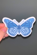 Cardinal Directions CD Stickers- Butterfly Blues