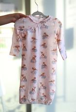 Woodland Deer Kimono Gown 0-3