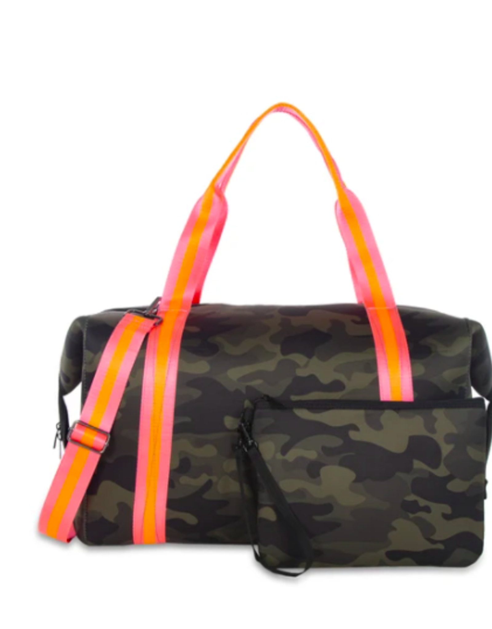 Morgan Weekender Green Camo/Pink& Orange