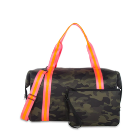 Morgan Weekender Green Camo/Pink& Orange