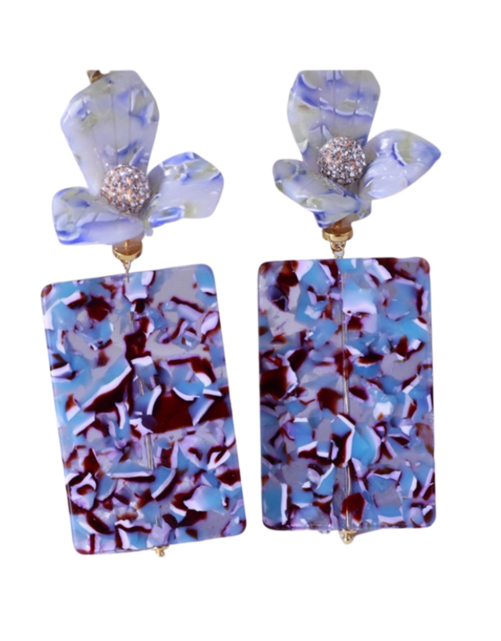 SFY Block Earrings- Midnight Multi