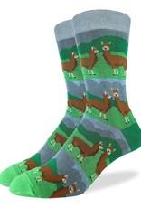Good Luck Sock Prarie Llamas Socks