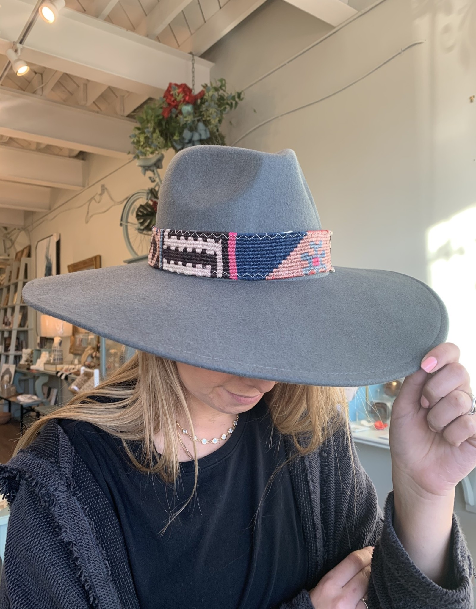 Orijinal Orijinal Wide Brim Gray Hat