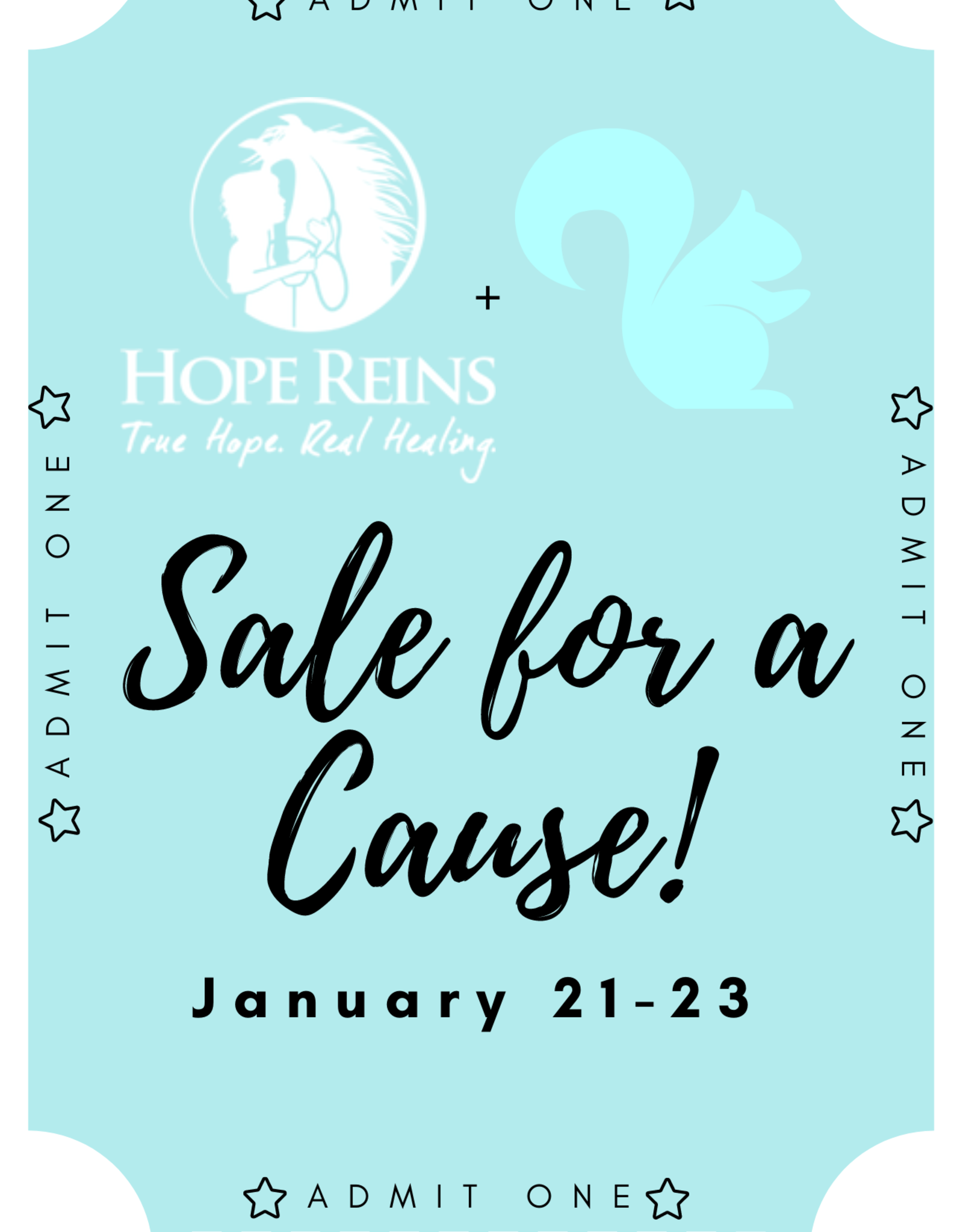 Local Squirrel Originals Hope Reins + The Local Squirrel Sale For A Cause Ticket
