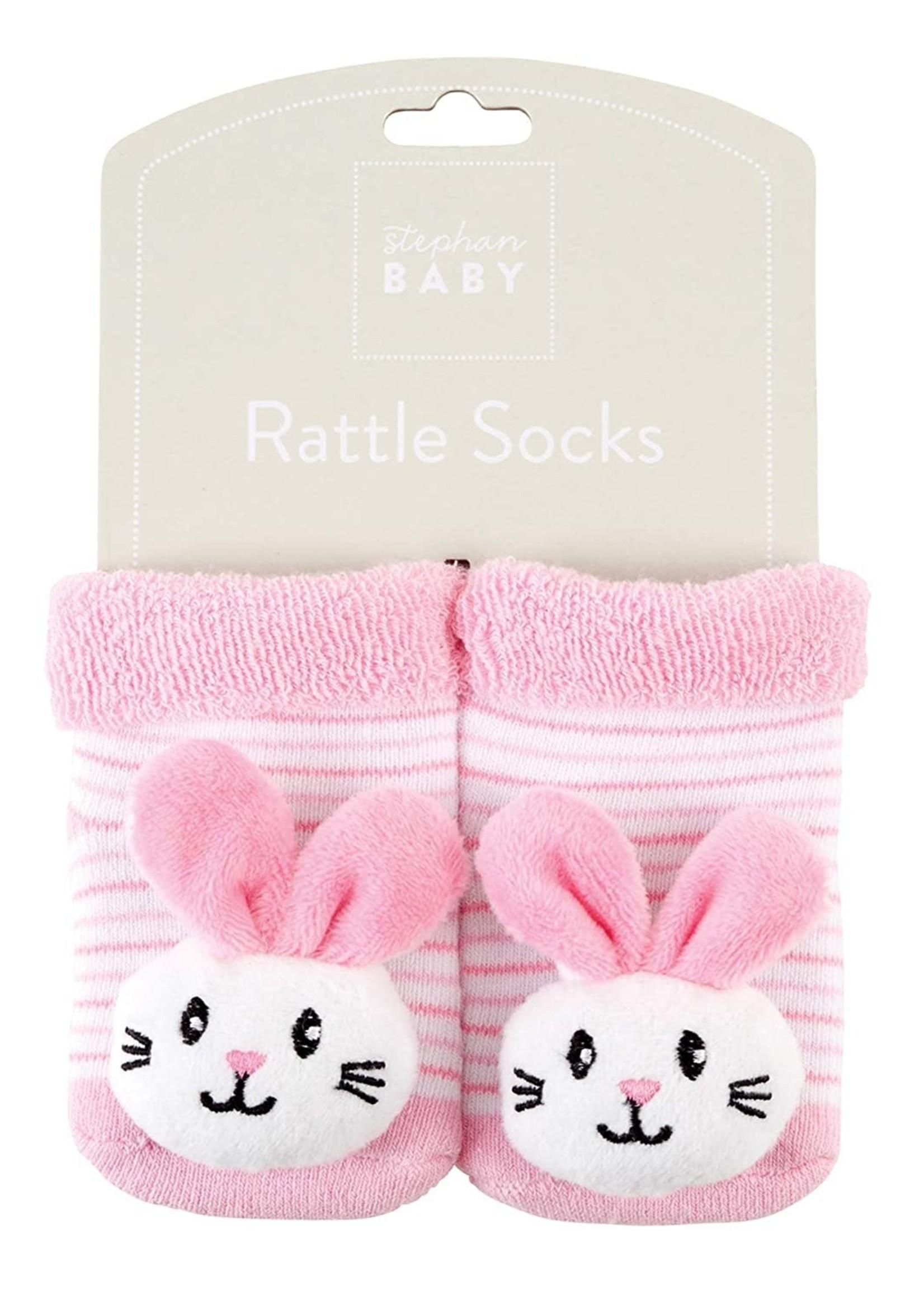Bunnie Rattle Socks 3-12m