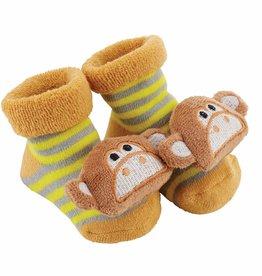 Monkey Rattle Socks 3-12m