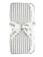 Grey Stripe Burp Cloth