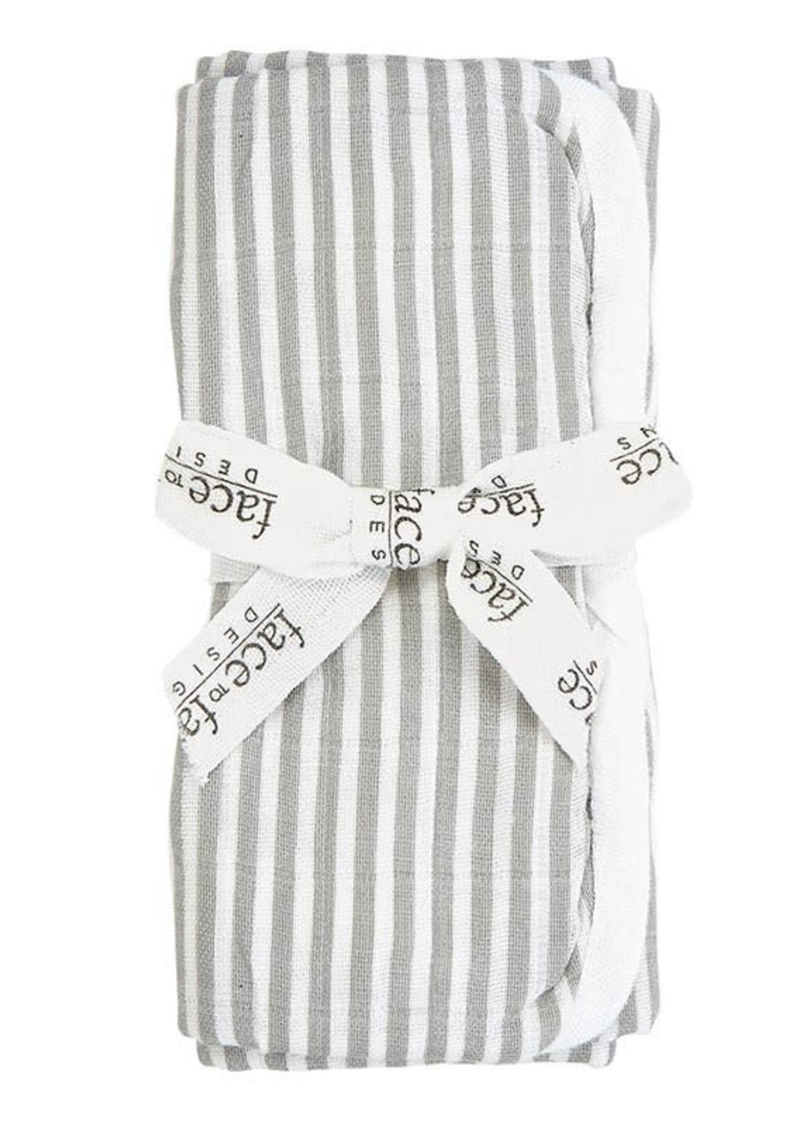 Grey Stripe Burp Cloth