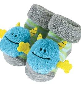 Monster Blue Rattle Socks