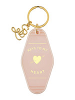 Heart Motel Key Tag