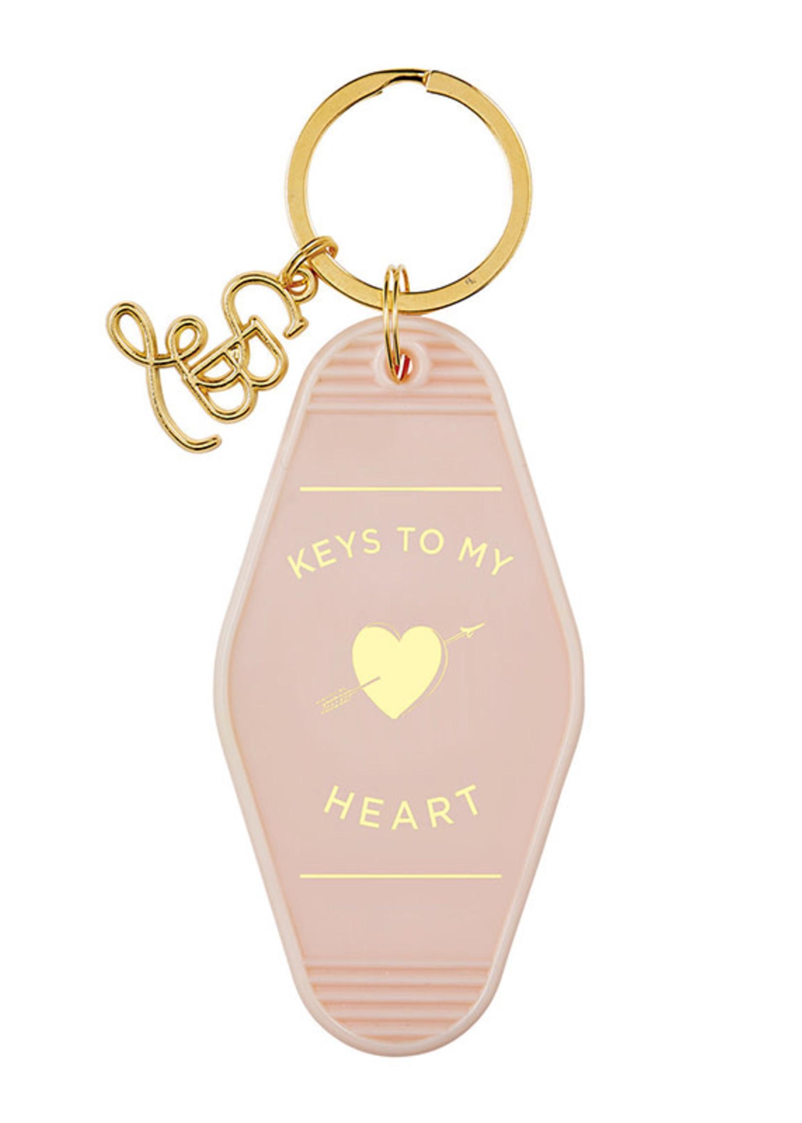 Heart Motel Key Tag