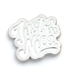 Frog and Toad Just Be Nice Enamel Pin