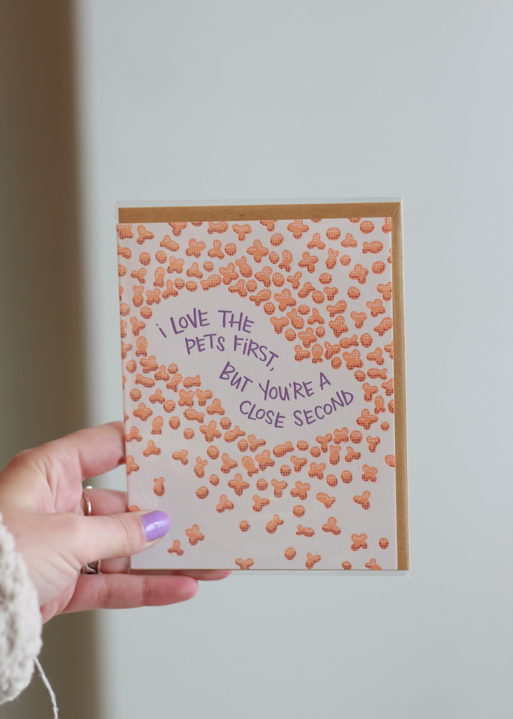 Frog and Toad I Love The Pets First Kibbles Card