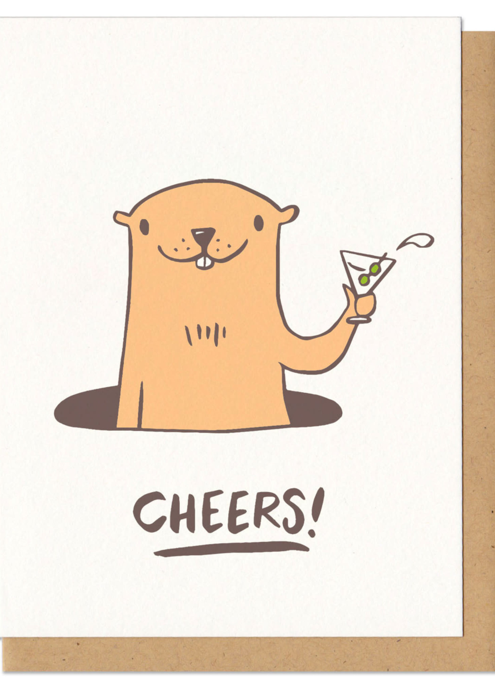 Frog and Toad Cheers! Groundhog Card