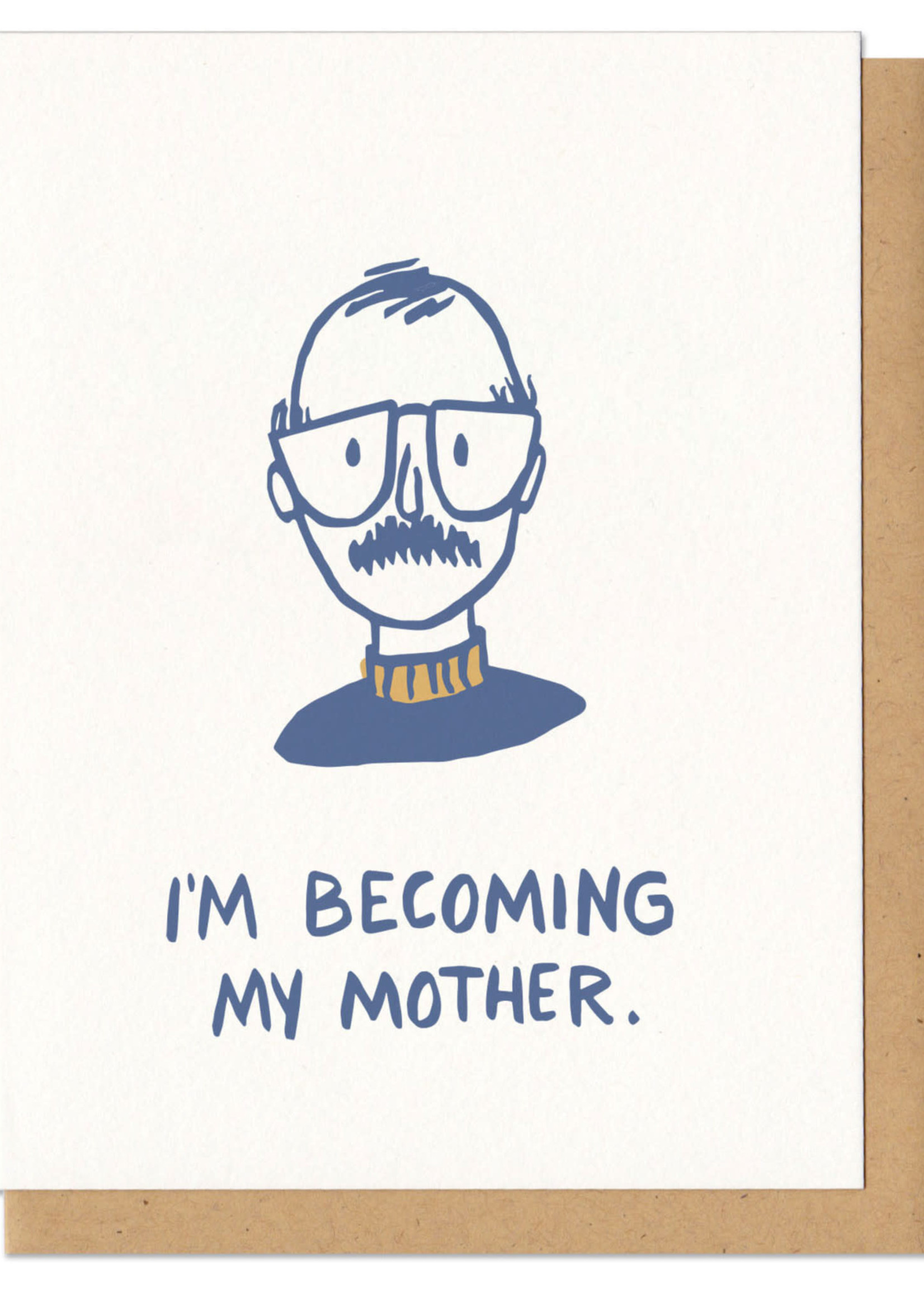 Frog and Toad I'm Becoming My Mothers 'Stache Card