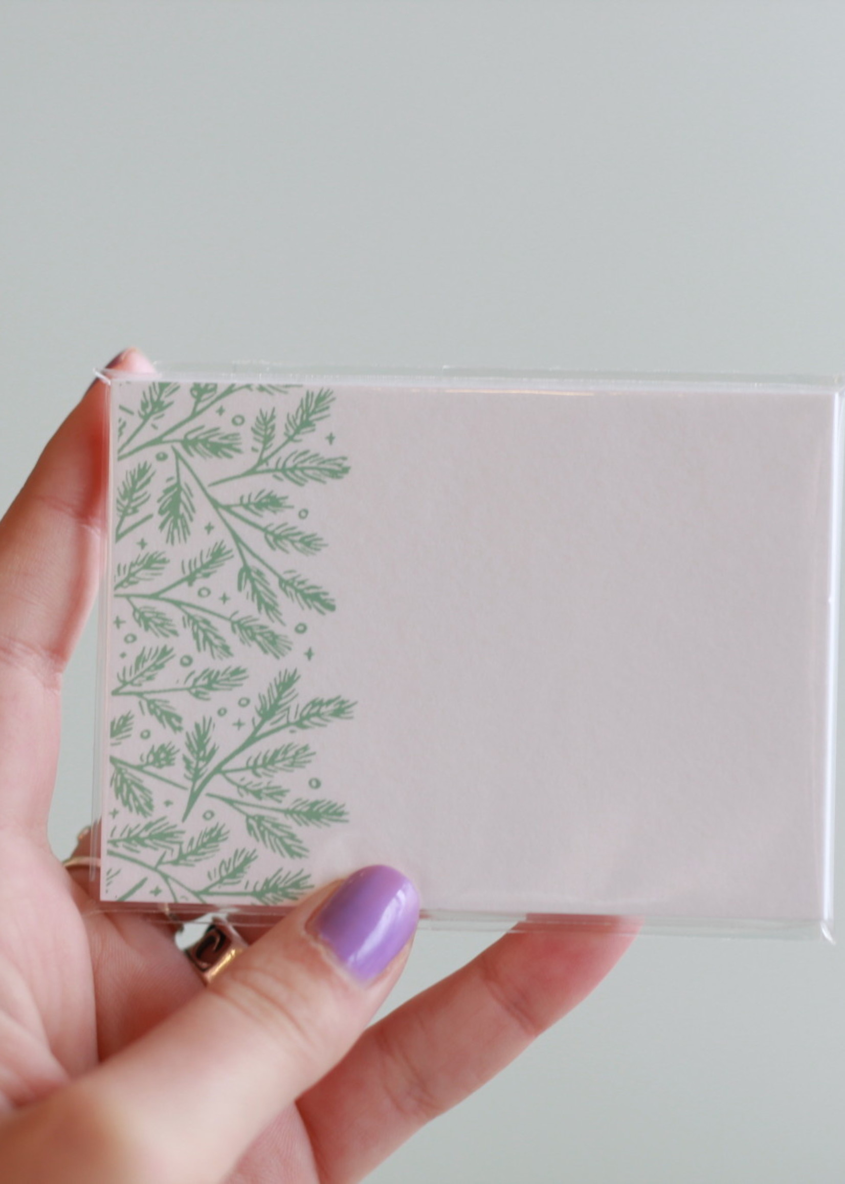 Frog and Toad Pine Boughs Mini Card Set (10)