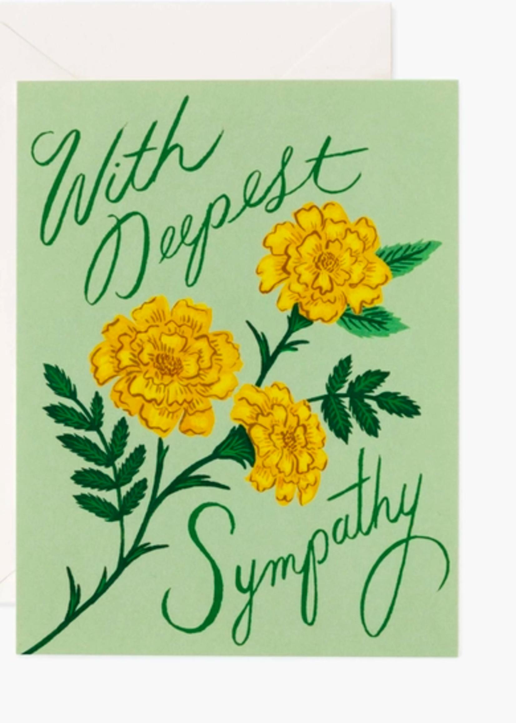 Marigold Sympathy Card