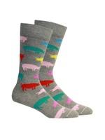 Wilburs in Light Grey Heather Socks
