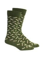 Peanuts in Sage Socks