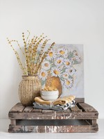 20''  Square Canvas Flowers in Vase I