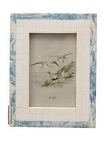 Blue & Ivory Resin Frame