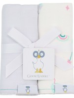 Goose Waddle Two Pack Burp Cloths Lavender