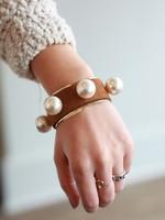 Orijinal Orijinal Pearl Brass Cuff Brown II