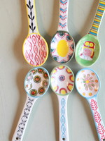 Hand Painted Stoneware Spoon