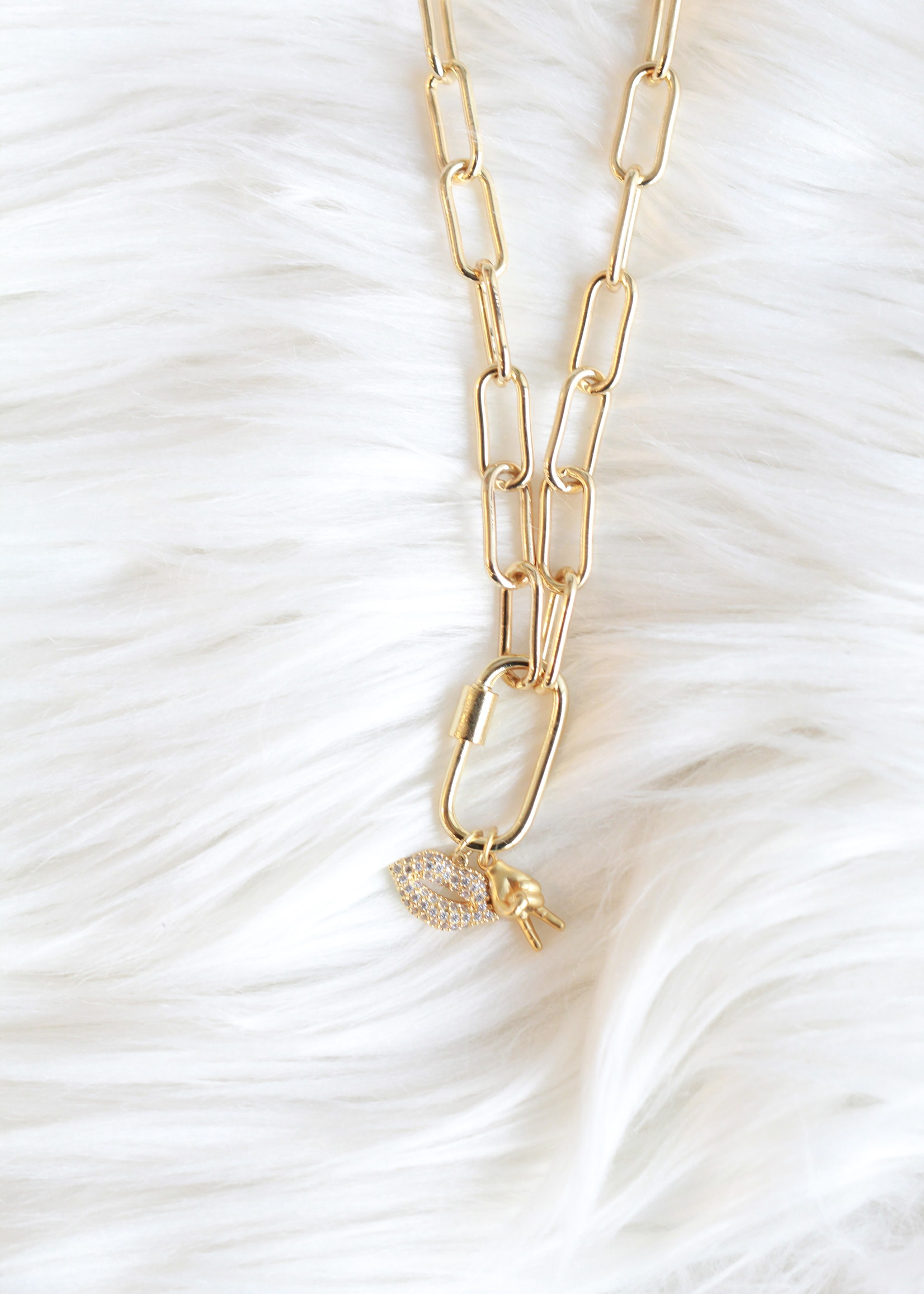 Bofemme Femme Kiss Charm Necklace