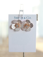 Smith & Co LS  Rose Button Stud