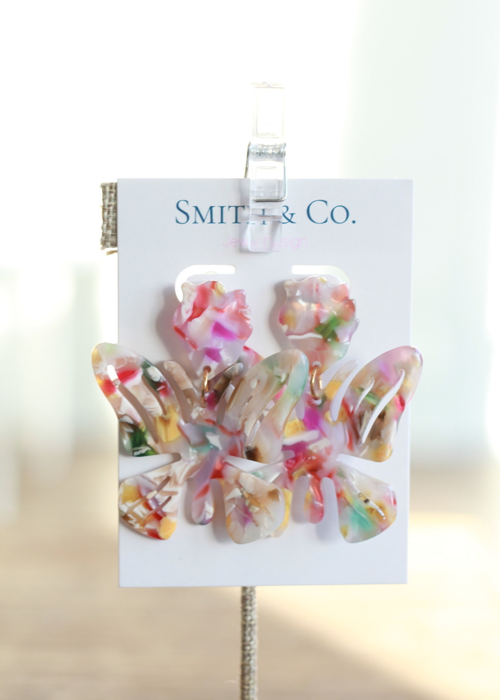 Smith & Co LS Lucite Butterfly Earring