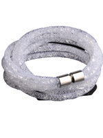 Smith & Co Trunk Show Marcie Mesh Wrist Wrap- Crystal White