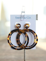 Smith & Co LS Lucite Looped Hoop Tortoise Earring