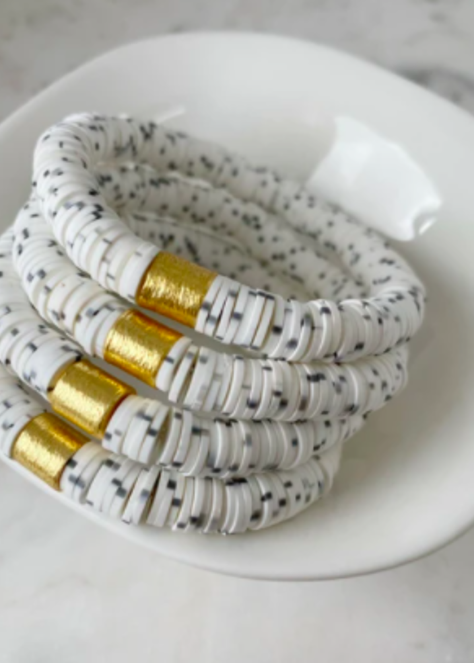 Mod Miss Jewelry Dalmatian Color Pop Bracelet Size Medium