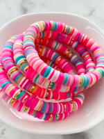 Mod Miss Jewelry Peachy Pink Color Pop Bracelet Size Medium