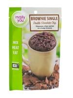 Double Chocolate Chip Microwave Brownie