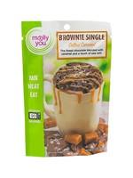 Salted Caramel Microwave Brownie