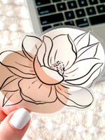 Elyse Breanne Design Clear Magnolia Sticker