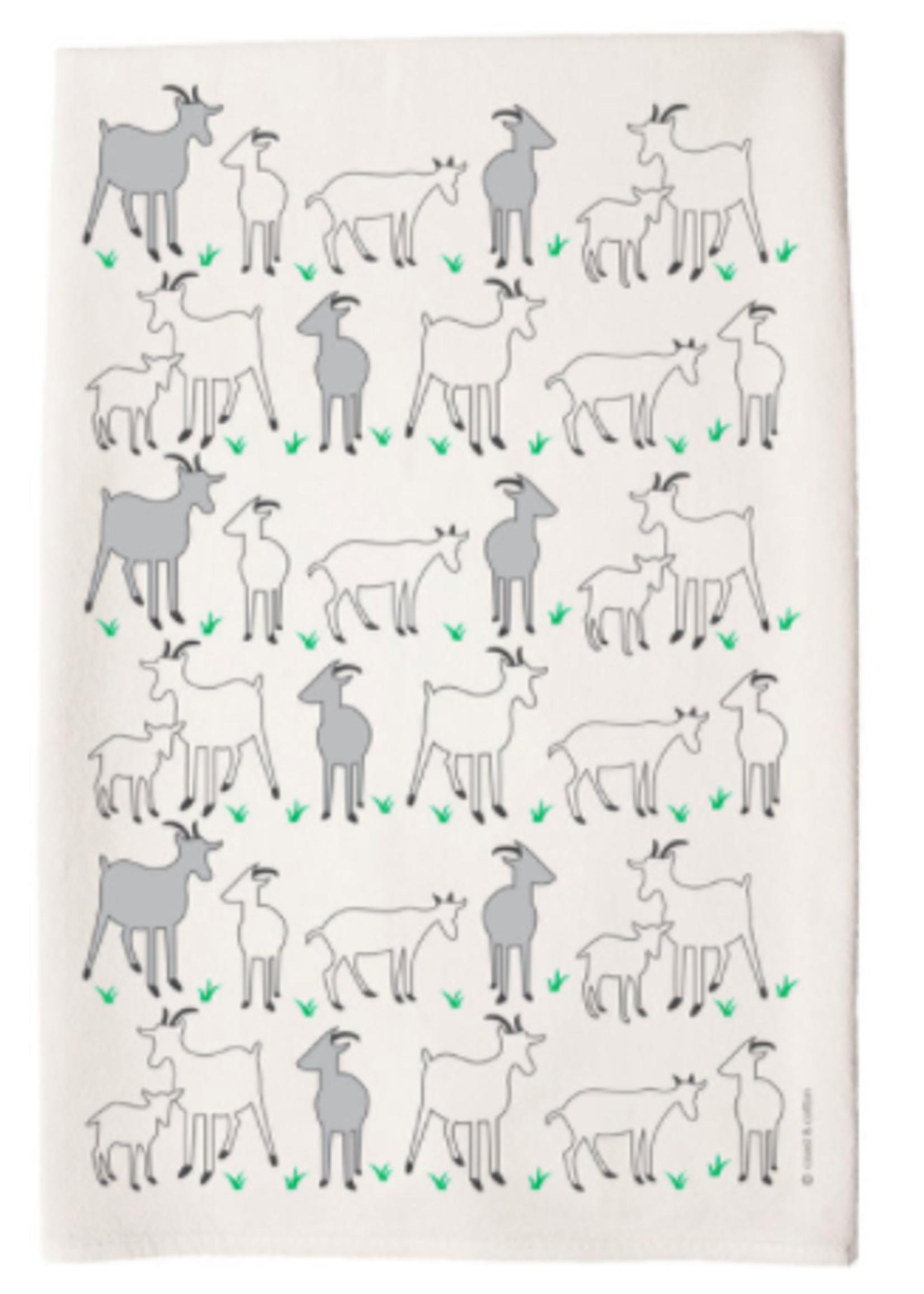 Goats Tea Towel