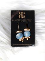 Allison Conway AC Light Blue Sea Glass Earrings