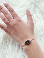 Allison Conway AC Black Geode Bracelet