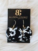 Allison Conway AC Black & White Drop Earrings