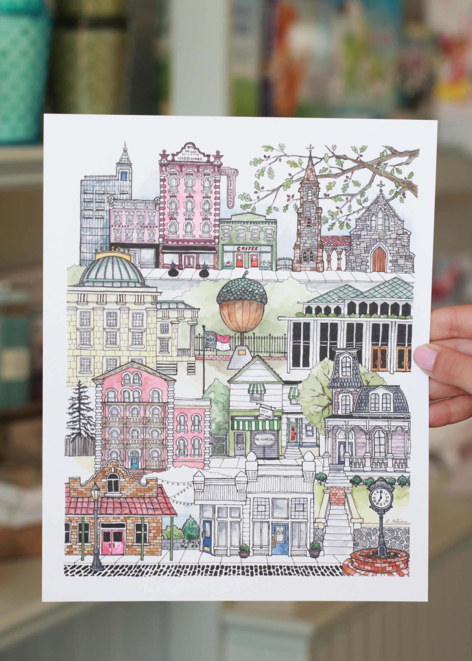 Paper Mill Creative Downtown Raleigh Print 8x10