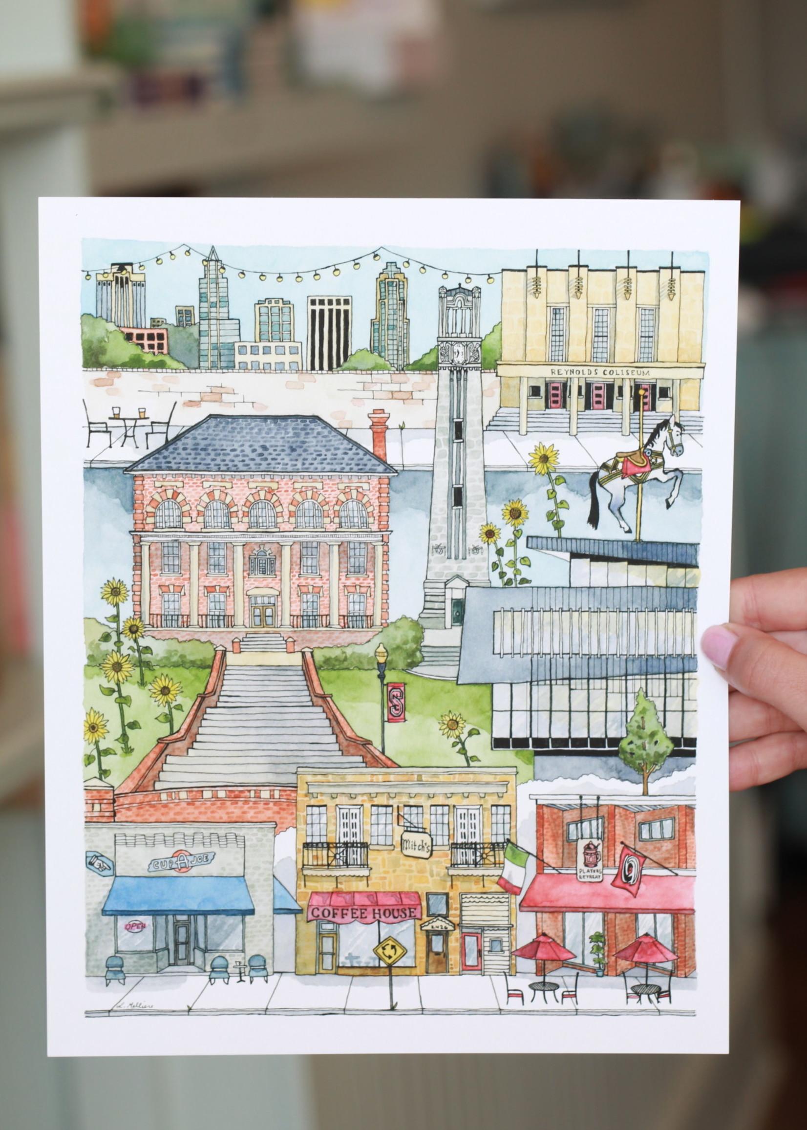 Paper Mill Creative NC State Print 8x10
