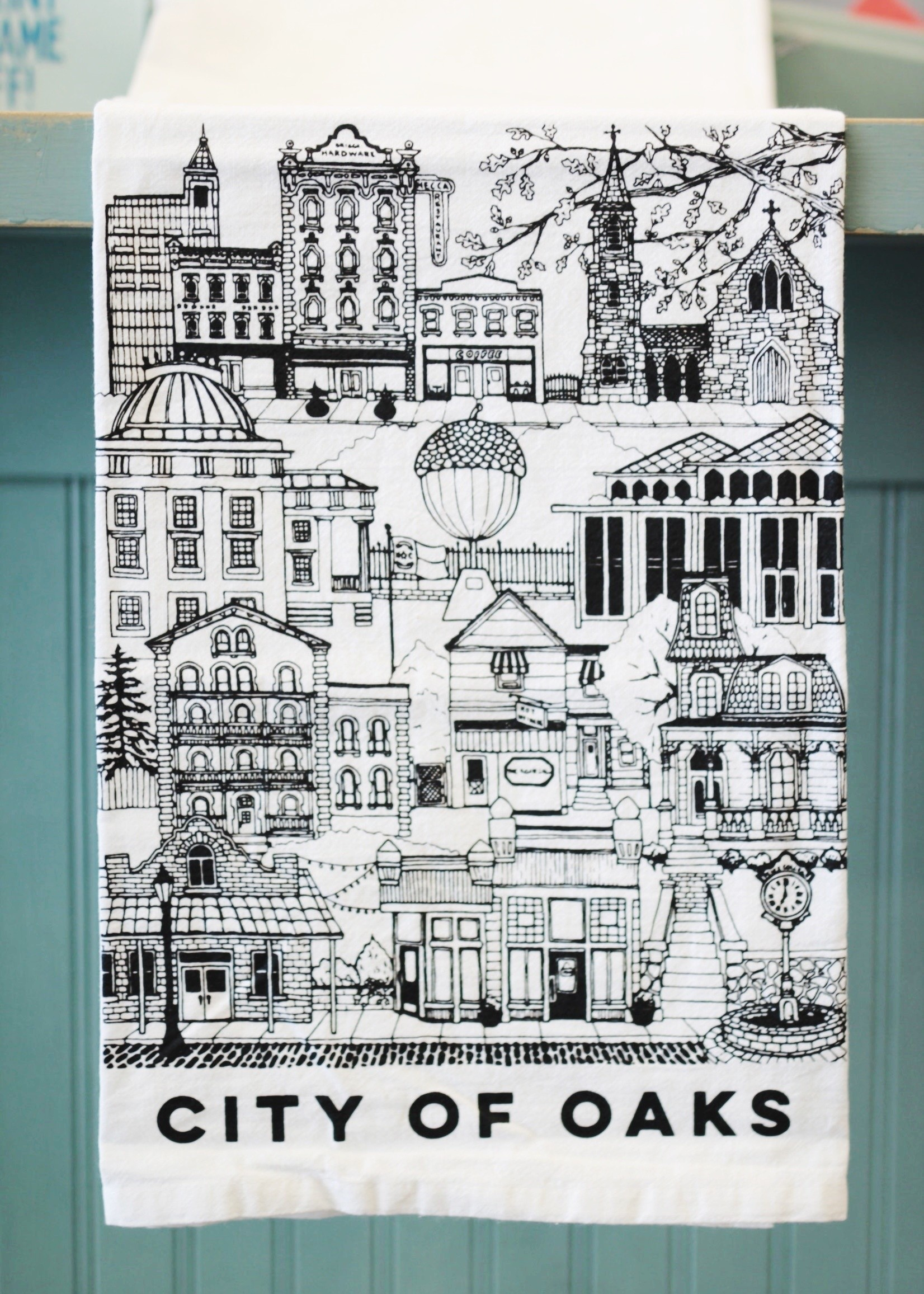 Paper Mill Creative Raleigh Tea Towel