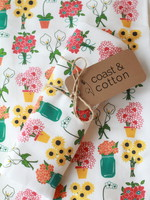 Flower Bouquet Tea Towel