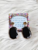 Erin McDermott Onyx Jewel Drop Earrings