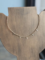 Erin McDermott Tiny Beaded Rectangle Necklace
